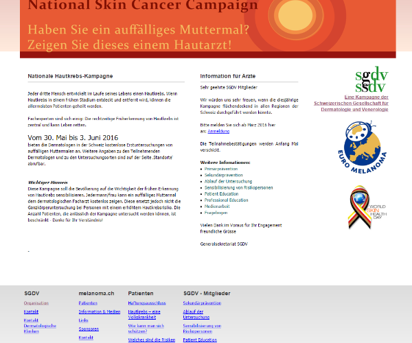 National Skin Cancer Campaign
